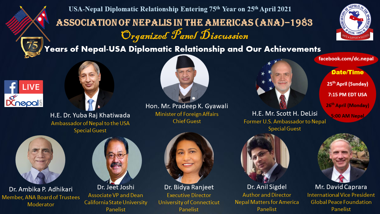 ANA Event of Nepal-USA 75 Years Diplomatic Relationship Celebration Flyer (1)